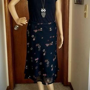 Zero Zero Black lined Skirt Size Small